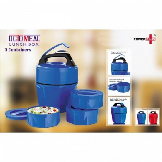 Octomeal Lunch Box 3 Containers (Plastic)
